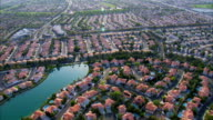 Aerial View Suburban Homes HD video