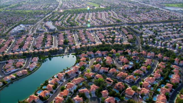 Aerial View Suburban Homes HD video