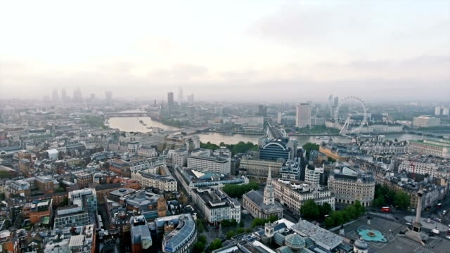 Aerial View The City Of London video