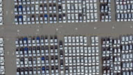 Aerial View, Thousand of new cars for sale video