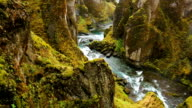 Aerial View Through Green Mountains video
