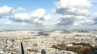Paris, France - November 20, 2014: aerial view timelapse of Paris city. video