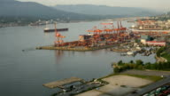 Aerial View Timelapse Vancouver harbor video