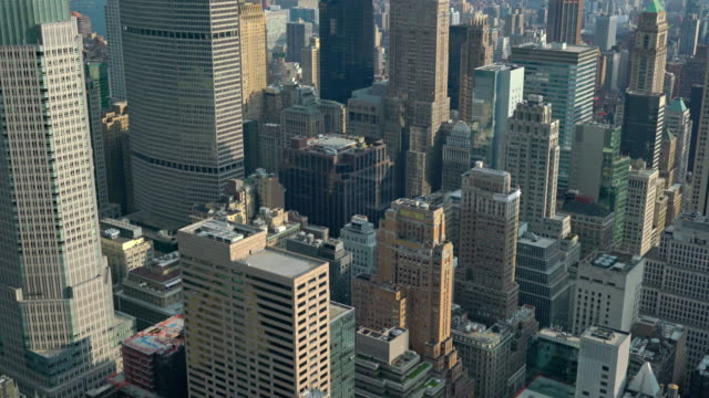 Aerial view to city video