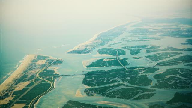 Aerial view to Far Rockaway, Long Island, New York, USA video