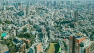 Aerial view Tokyo cityscape Japan, City life. video