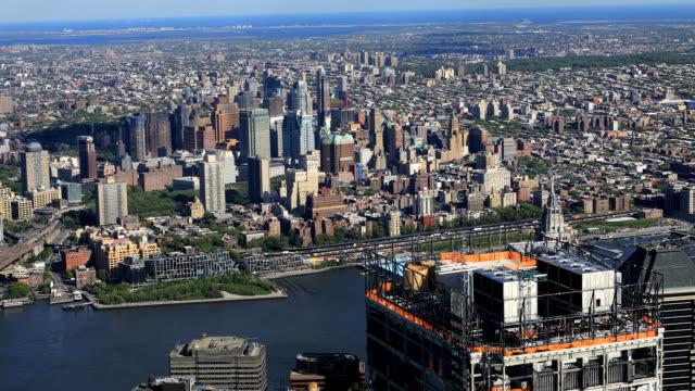 Aerial view towards Brooklyn, New York video