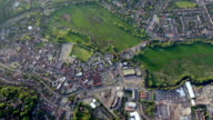 Aerial View Town and Country in Sunshine. HD video