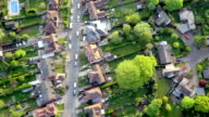 Aerial View Town and Suburbia in Sunshine. HD video