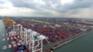 Aerial view :Transport at Harbor video
