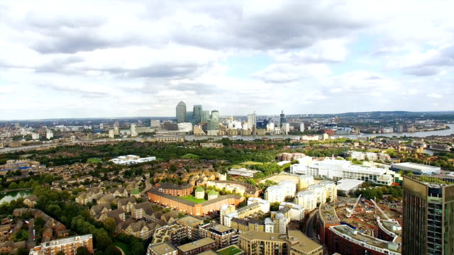 Aerial View Urban and Business Cityscape of London video