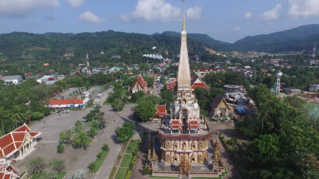 aerial view wat Chalong video