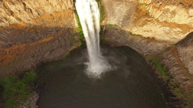 Aerial Washington Palouse Falls video