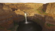 Aerial Washington Palouse Falls video