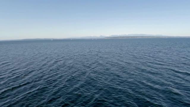Aerial Washington Puget Sound video