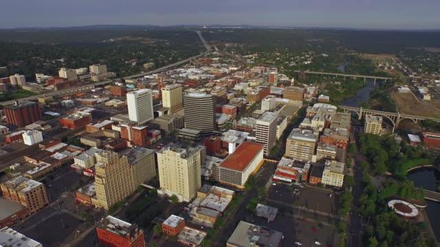 Aerial Washington Spokane video