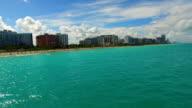 Aerial waverunners in Miami Beach video