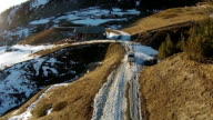 Aerial - Winter in italian Alps - Sestriere video