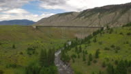 Aerial Wyoming Yellowstone National Park video