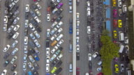 Aerial:Above view of parking lot video