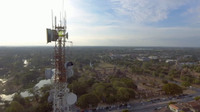 Aerial:Communication Tower video