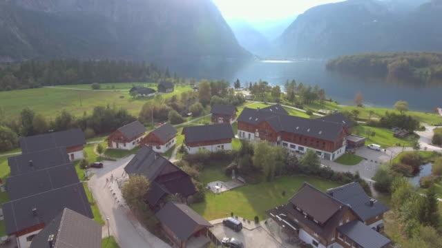 Aerial:Hallstatt Village and Lake video