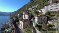 Aerial:Landscape of lake como video