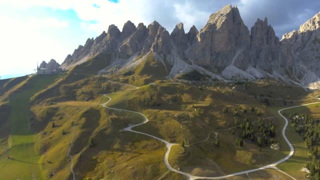 Aerial:Mountain Range ,Dolomites italy video