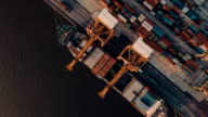 Aerials of Thailand Docks & Containers video