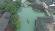 Aerials of water town of China video