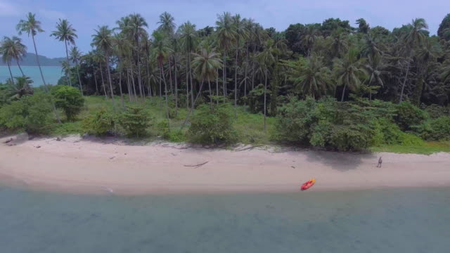 Aerial:Sailing to an island video