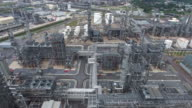 AERIAL:shot of refinery oil station video