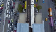 Aerial:Traffic and transport system in Bangkok video