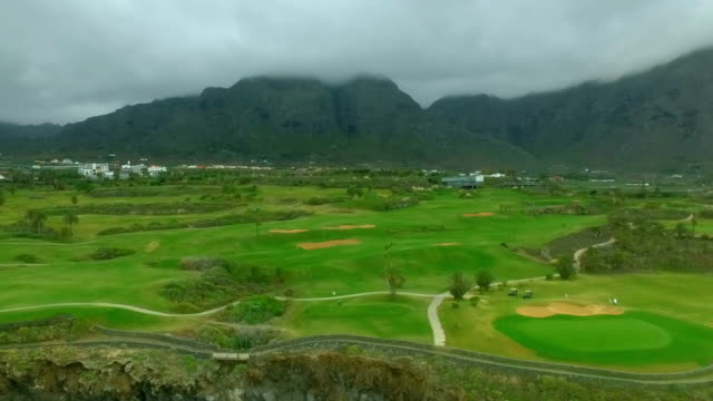 Aeriel view of a golf course video
