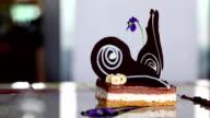 Aesthetically garnished chocolate cake video