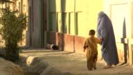 Afghanistan. Afghan woman with burkha video