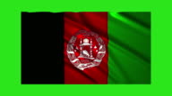 Afghanistan flag waving,loopable on green screen video