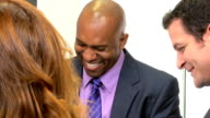 African American Businessman Office Team Meeting video