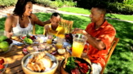 African American Family Healthy Eating video