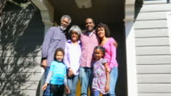 African American Family Together on the Porch video