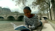 HD: African American Woman Reading a Book video