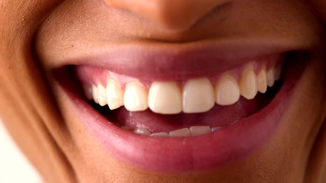African American woman smiling and laughing video