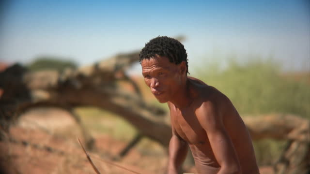 african bushman hunting video