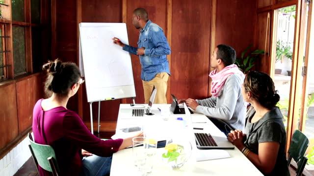 African Businessman leads creative team video