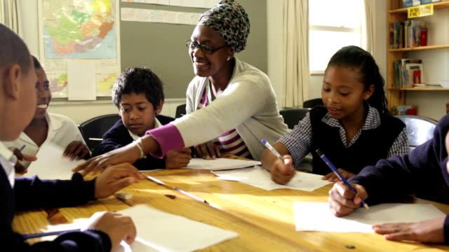 African Education School Children and Teacher video