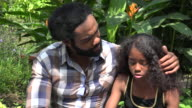 African Father and Daughter Talking video