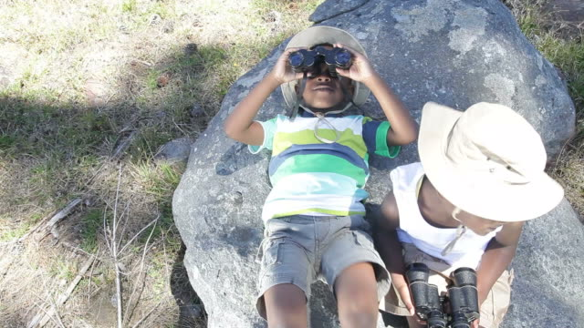 African kids exploring the nature video