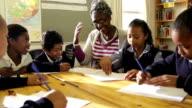 African Teacher and School Children video
