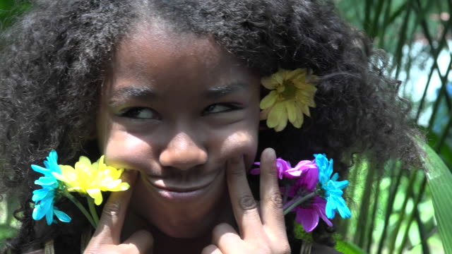 African Teen Girl Making Funny Faces video
