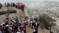 African Tourists on Mount of Olives video